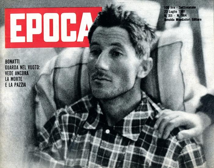 """Sulla copertina di Epoca """"vede ancora la morte e la pazzia"""" dopo la tragedia (1961)"""